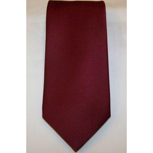 Bordó selyem nyakkendő