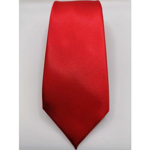 Piros selyem nyakkendő