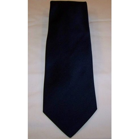 Sötétkék, anyagában csíkos selyem nyakkendő