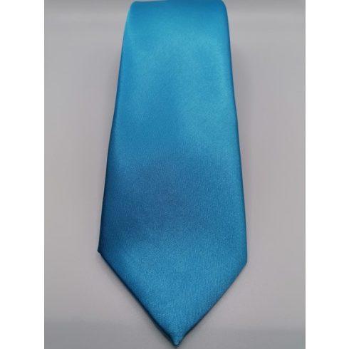 Türkízkék selyem nyakkendő