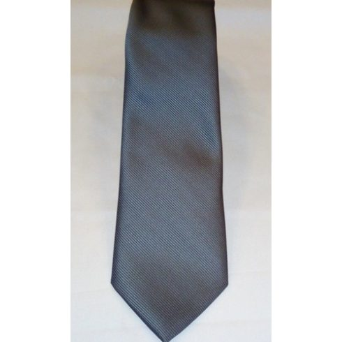 Szürke, anyagában csíkos selyem nyakkendő