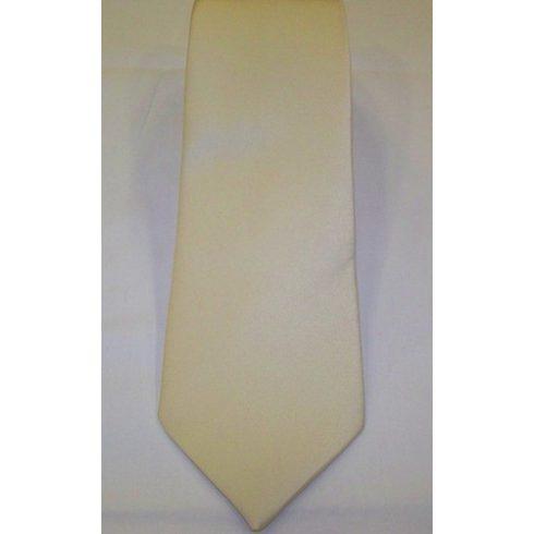 Krémszínű selyem nyakkendő