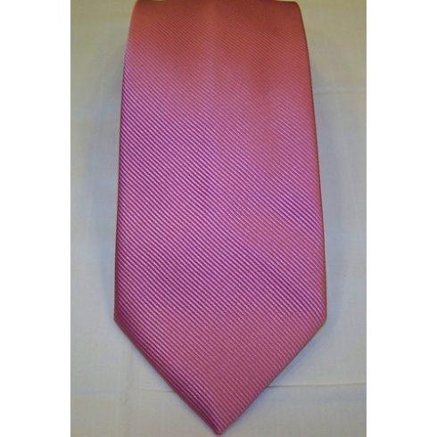 Rózsaszín, anyagában csíkos selyem nyakkendő