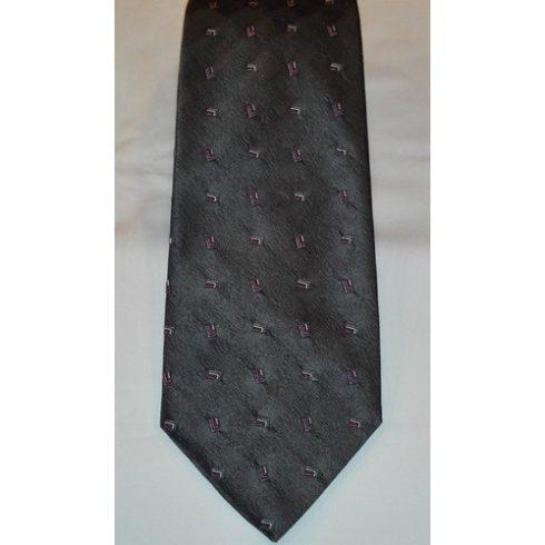 Rózsaszín alapon világos rózsaszín mintás poliészter nyakkendő