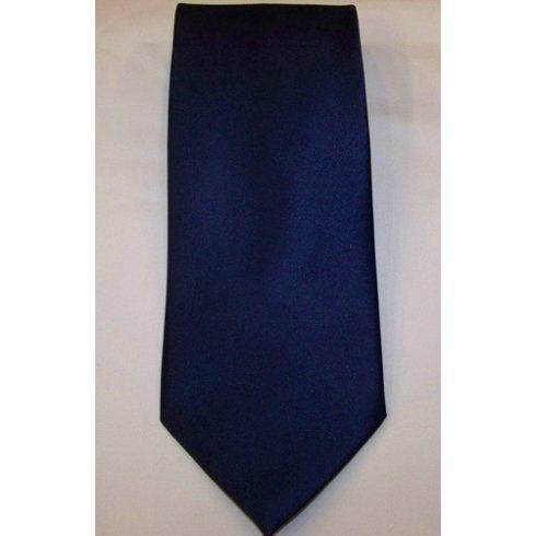 Sötétkék poliészter nyakkendő