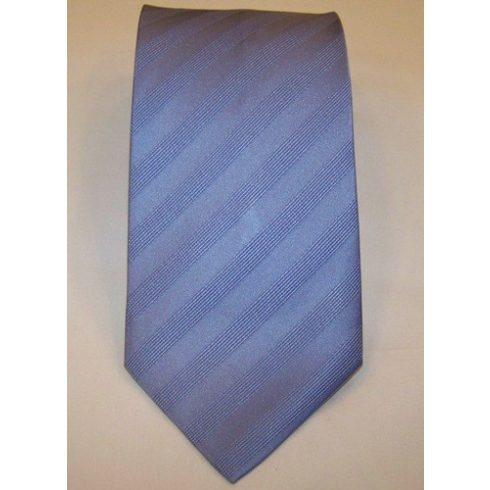 Acélkék, anyagában mintás poliészter nyakkendő