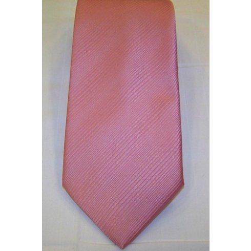 Rózsaszín, anyagában csíkos poliészter nyakkendő