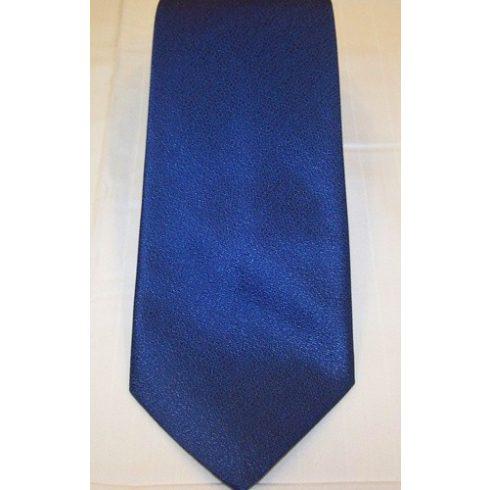Királykék, anyagában mintás poliészter nyakkendő